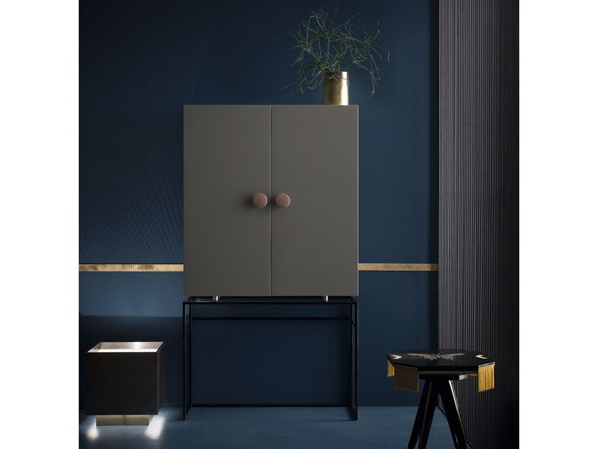 Tall storage bathroom cabinet with doors MAORI | Storage bathroom cabinet by Cerasa