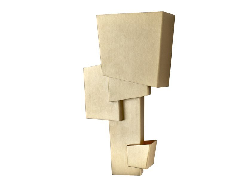 LED brass wall light MAP 1   Wall light by DCW éditions