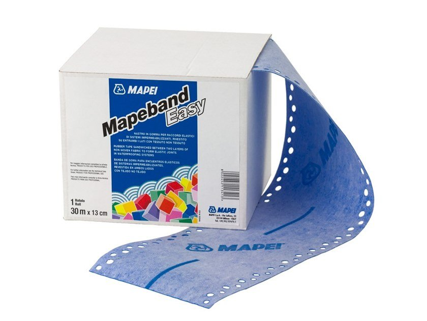 Tape and joint for waterproofing MAPEBAND EASY by MAPEI
