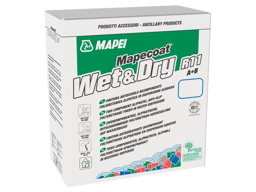 Non-slip treatment for flooring MAPECOAT WET & DRY R11 by MAPEI