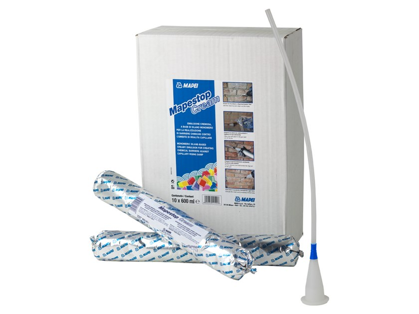 Chemical barrier anti-humidity system MAPESTOP CREAM by MAPEI