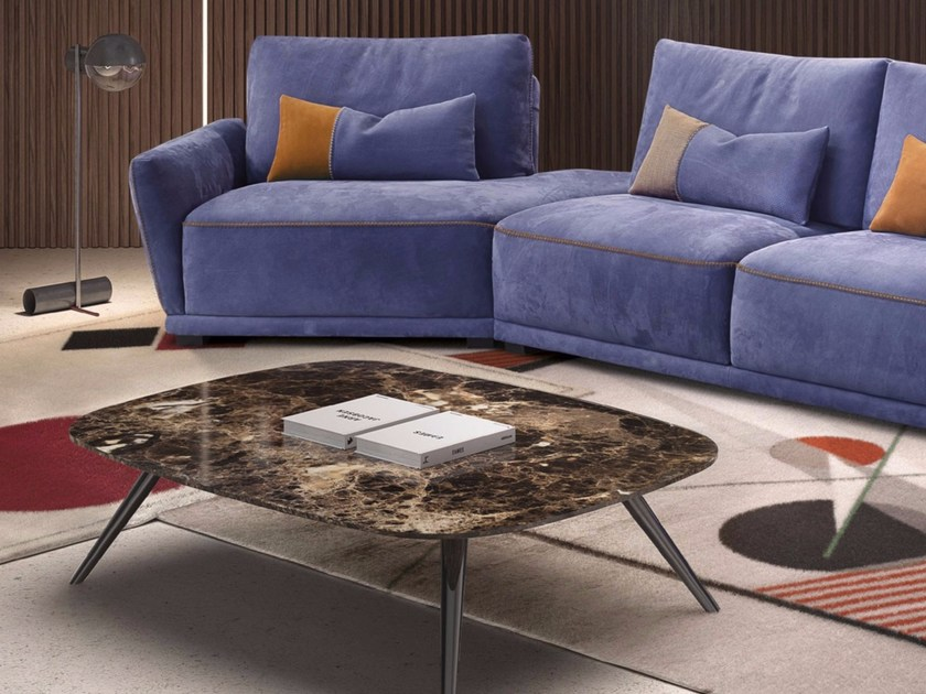 Low Marble Coffee Table For Living Room Marbella By Italy