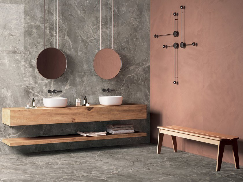 Porcelain stoneware wall/floor tiles with marble effect INFINITO 2.0 FIOR DI BOSCO by CERAMICA FONDOVALLE