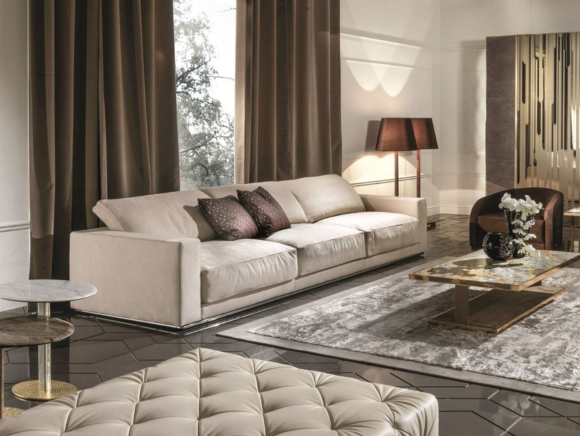 3 seater fabric sofa with removable cover MARCEL by Longhi