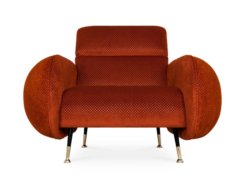 Fabric armchair with armrests MARCO | Armchair by Essential Home