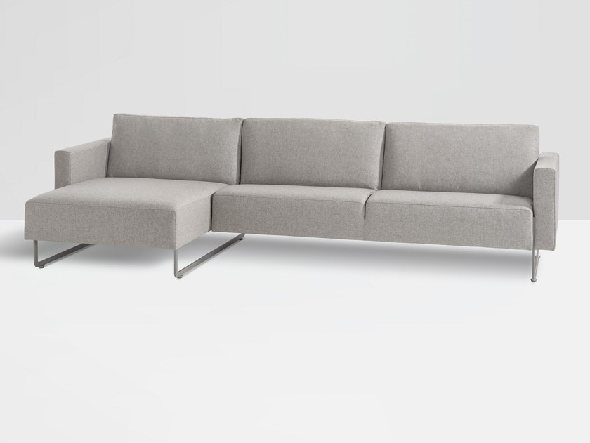 Modular fabric sofa with chaise longue MARE | Sofa with chaise longue by Artifort