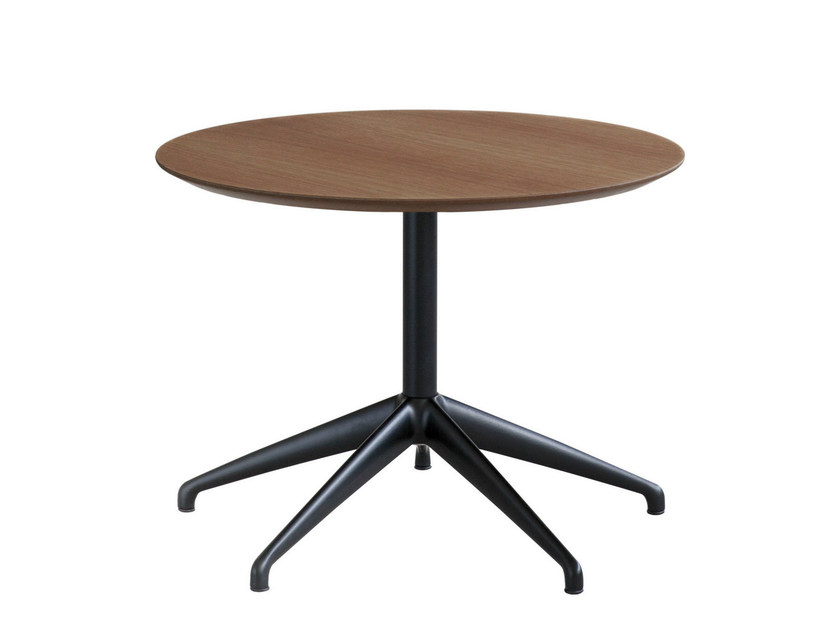 Wooden side table with 4-star base MAREA | Side table by STUA