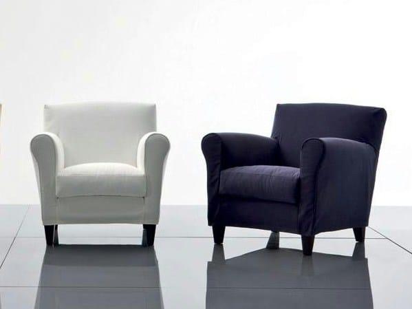 Fabric armchair with armrests MARGARET | Fabric armchair by Marac