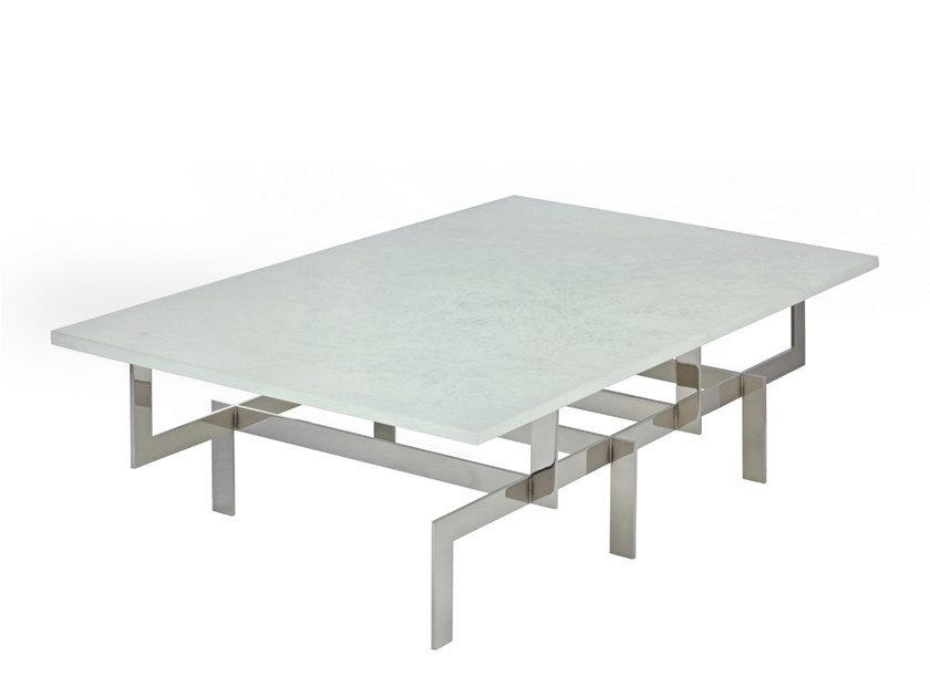Rectangular glass coffee table MARGAUX | Coffee table by Douglas Design Studio