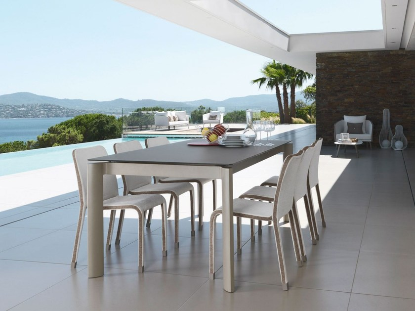 Extending rectangular aluminium garden table MARGOT | Garden table by Italy Dream Design