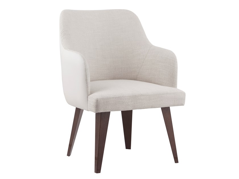 Upholstered fabric easy chair with armrests MARGOT by Green Apple