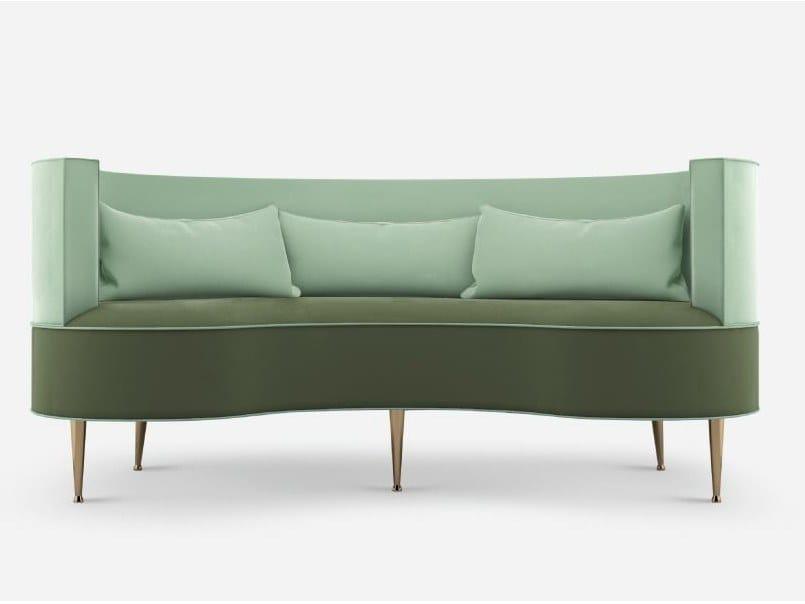 Curved fabric sofa MARGRET | 2 seater sofa by Ottiu