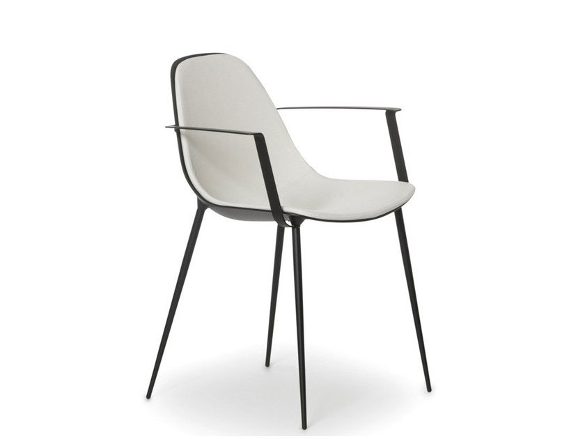 Aluminium garden chair with armrests MARGUERITE | Chair with armrests by Joli