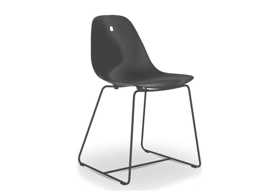 Sedia a slitta da giardino in alluminio MARGUERITE | Sedia a slitta by Joli