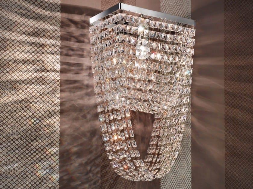 Applique a luce diretta incandescente in metallo verniciato con cristalli IMPERO VE 817 by Masiero