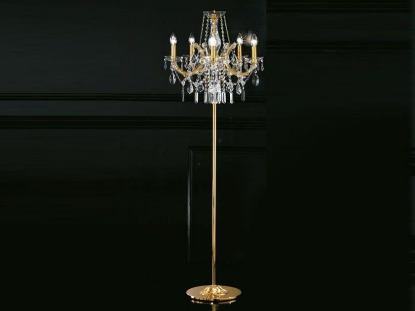 Direct light incandescent metal floor lamp with crystals MARIA TERESA VE 942 | Floor lamp by Masiero