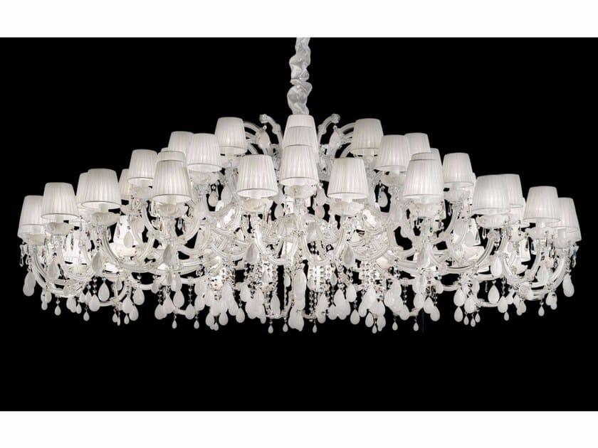 Lampadario a luce diretta in metallo verniciato con cristalli MARIA TERESA VE 982 by Masiero