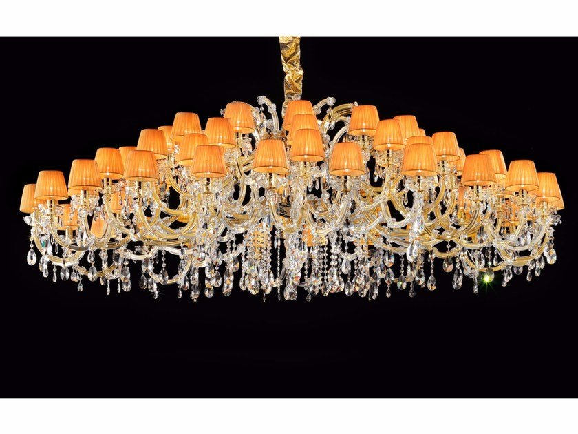 Direct light painted metal chandelier with crystals MARIA TERESA VE 984 by Masiero