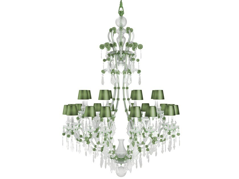 Direct light handmade Frosted Crystal chandelier MARIA THERESA CONTEMPORARY COLOUR by PRECIOSA Lighting