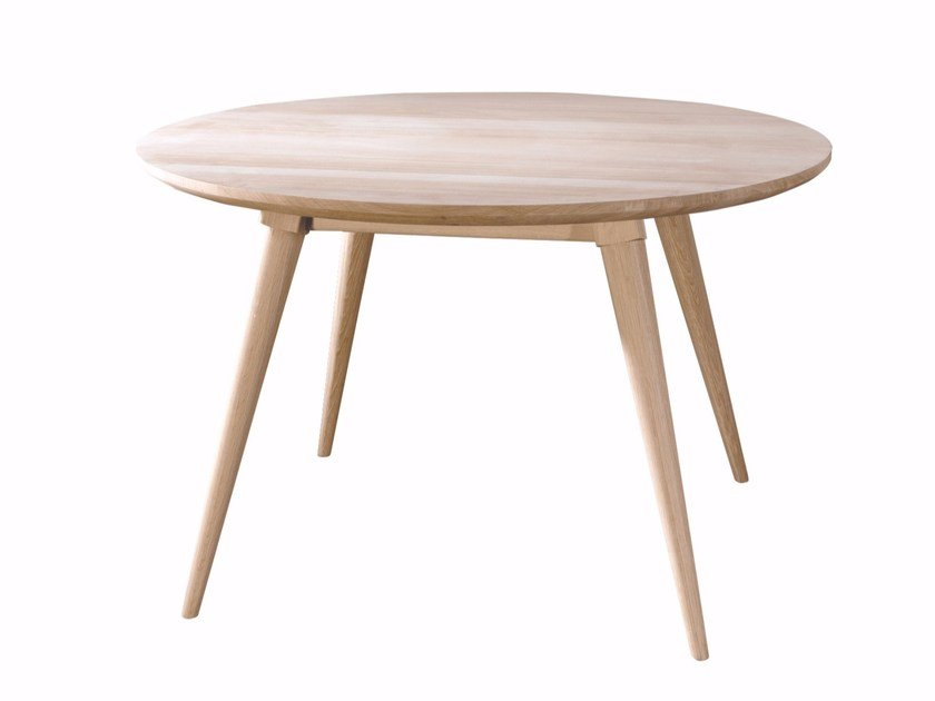 Round solid wood table MARIA by Wewood