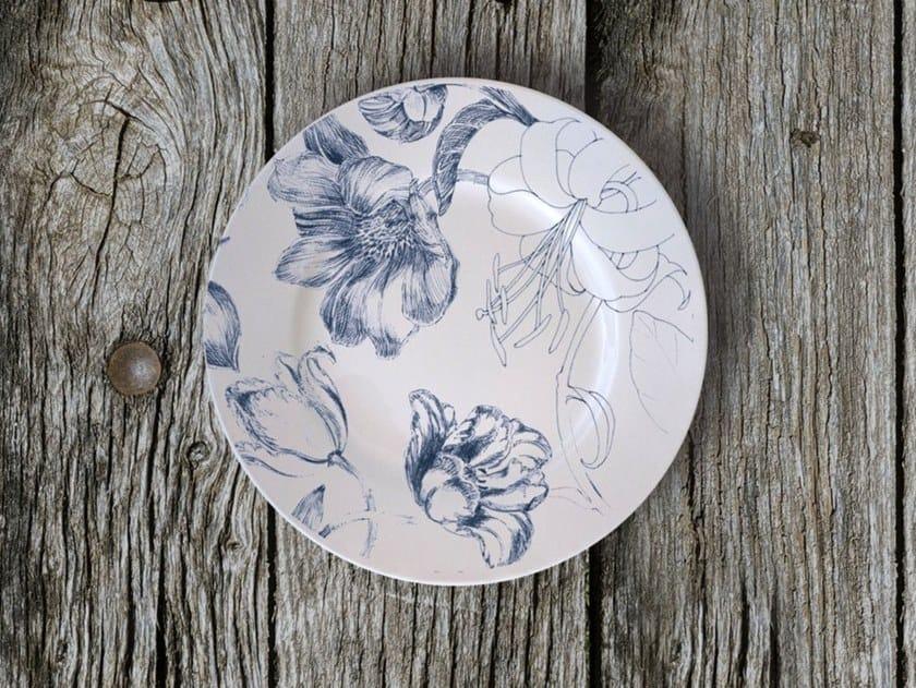 "Porcelain plate MARIE ANTONIETTE 2020 BREAD PLATE ""A"" by Francesca Colombo"