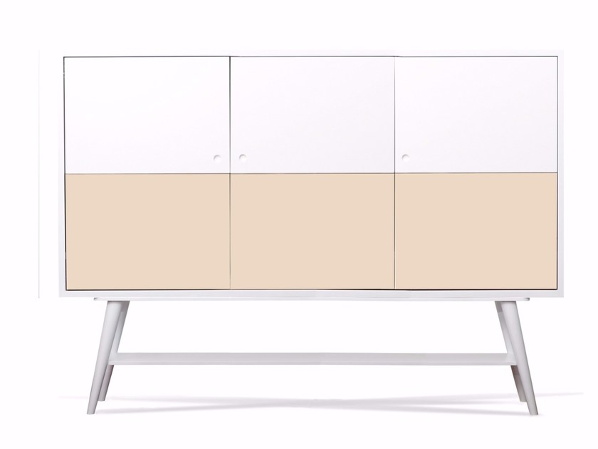 Lacquered wooden TV cabinet MARIGNAN by AZEA