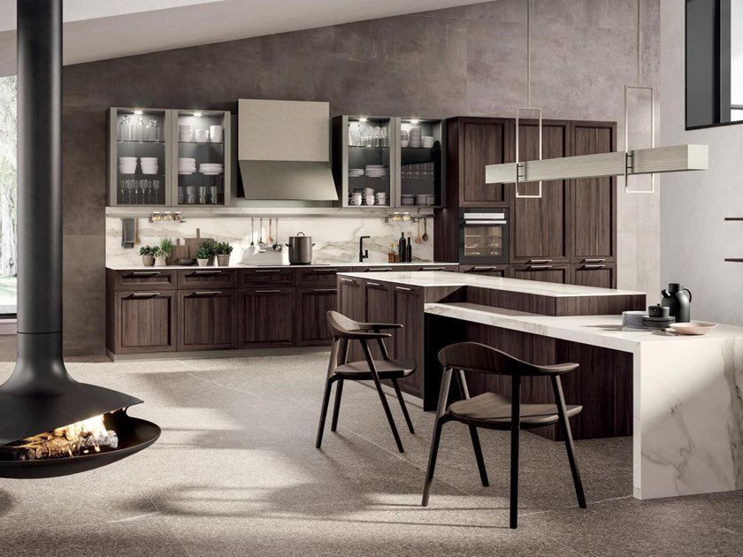 Wooden kitchen with island MARILYN 45.1 by Composit