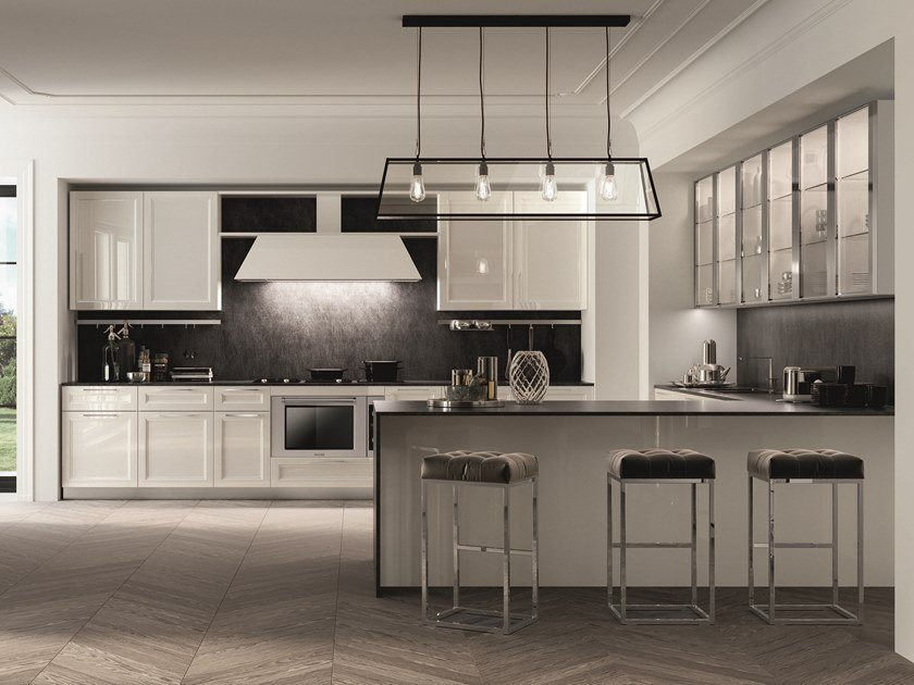 Lacquered fitted kitchen with handles MARILYN by Composit