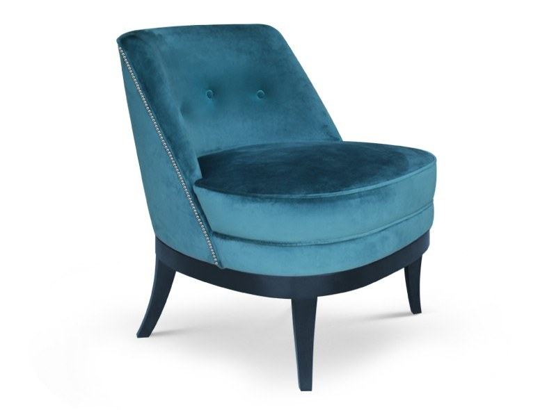 Upholstered velvet easy chair MARILYN | Easy chair by Ottiu