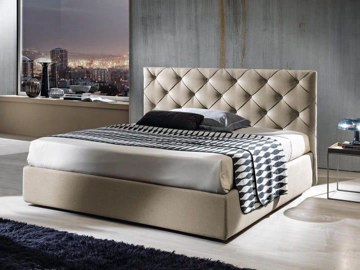 Fabric storage bed MARILYN TRIPLEX by Lamantin