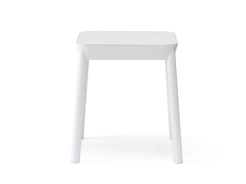 Low beech stool MARIMBA | Low stool by BILLIANI