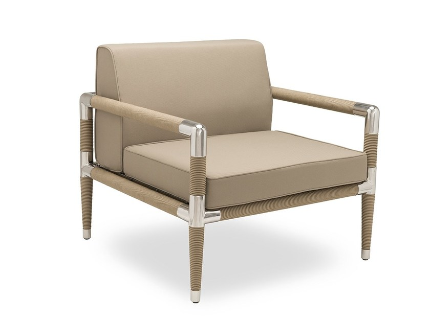 Garden armchair with armrests MARINA | Garden armchair by Indian Ocean
