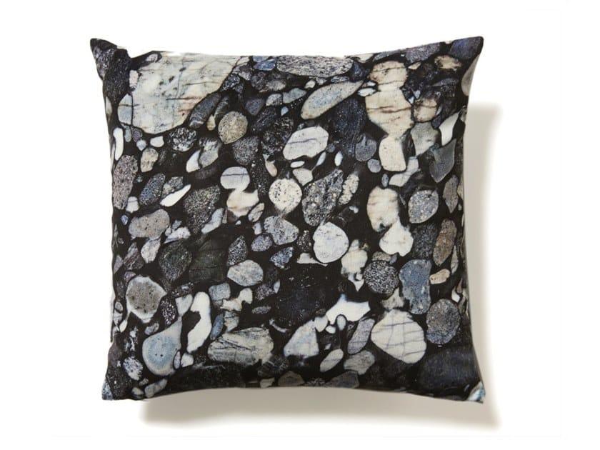Square cushion MARINACE BLACK MARBLE by Koziel