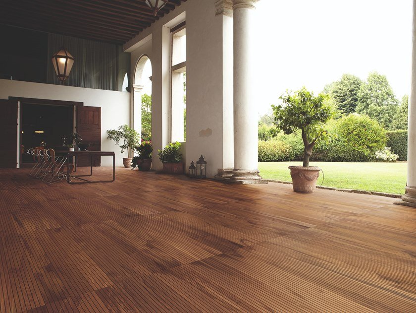 Teak outdoor floor tiles MARINE TEAK by Listone Giordano