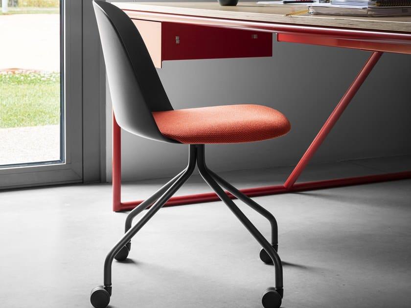 Sedia in polipropilene con ruote MARIOLINA | Sedia con ruote by Miniforms
