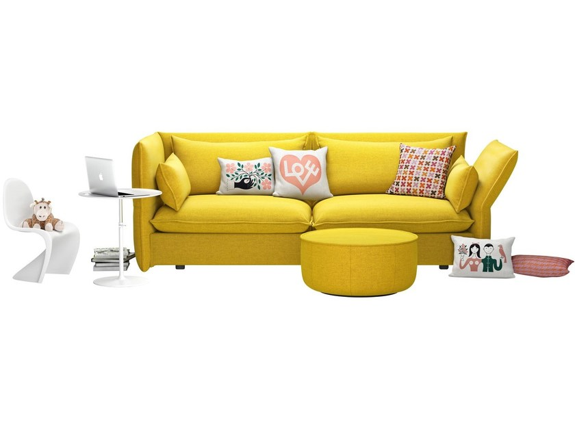 3 seater sofa with removable cover MARIPOSA 3-SEATER by Vitra