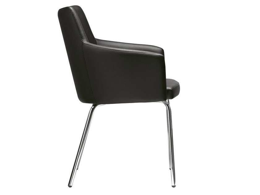 Upholstered easy chair with armrests Marka 566 by Metalmobil