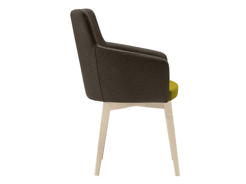 Upholstered wooden easy chair Marka 570 by Metalmobil