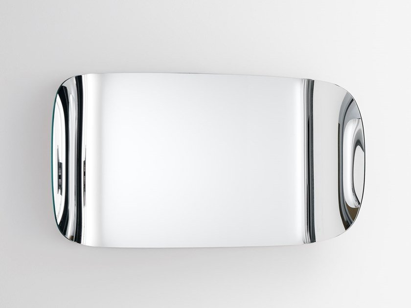 Rectangular wall-mounted mirror MARLENE by Glas Italia