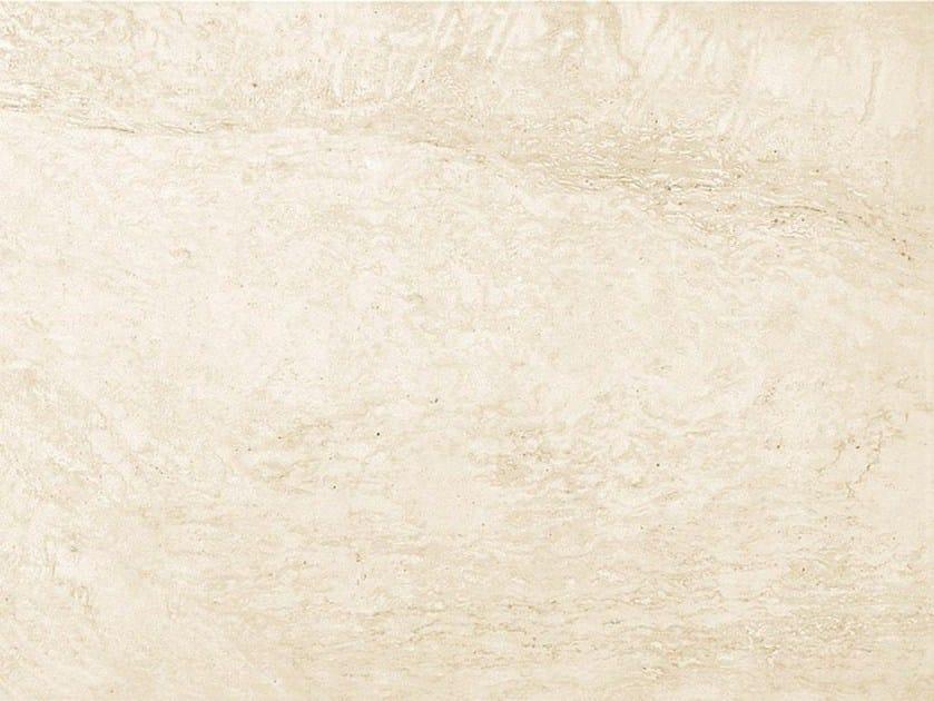 Glazed stoneware flooring with marble effect MARMO D Travertino Bianco by Italgraniti