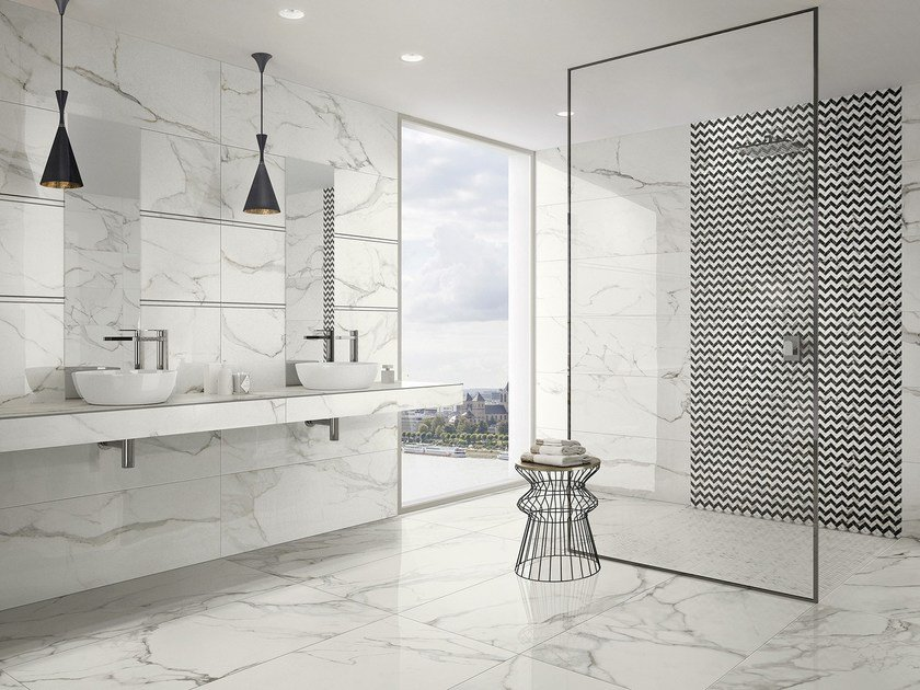porcelain stoneware wall floor tiles with marble effect marmochic by villeroy boch fliesen. Black Bedroom Furniture Sets. Home Design Ideas