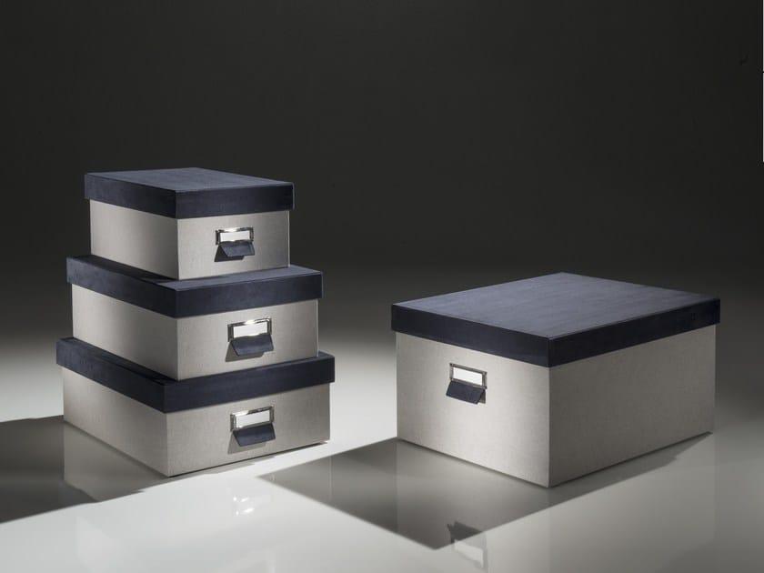 Box contenitore in tela lino MARMOTTA by Esemplareunico