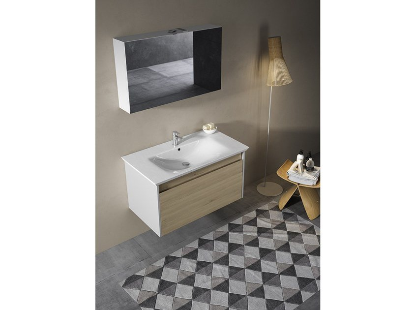 Mobile lavabo sospeso con specchio MARS 05 by BMT
