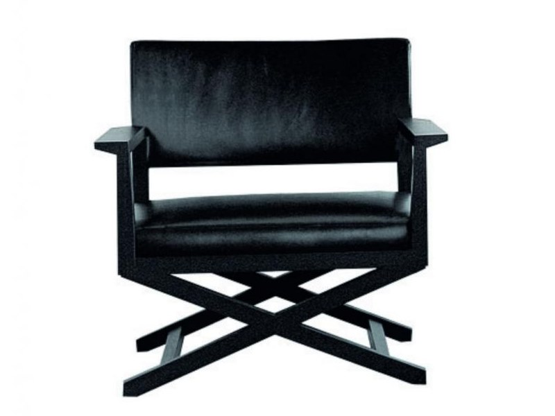 Leather armchair with armrests MARTIN   Leather armchair by Casamilano