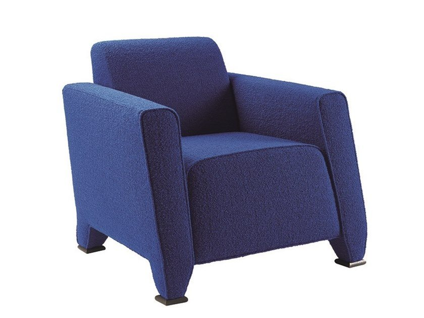 Upholstered fabric armchair with armrests MARTINI NINI by Promemoria