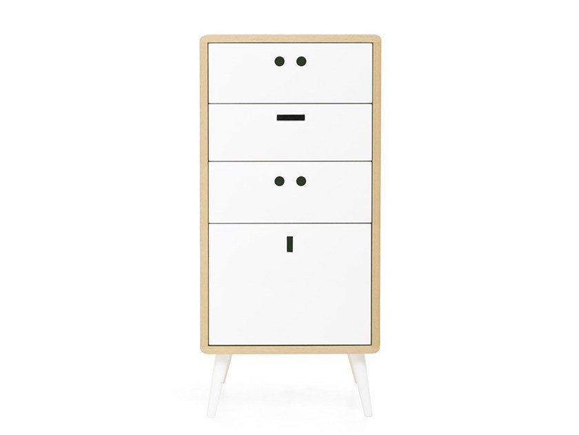 Wood veneer chest of drawers MARTINS by DAM