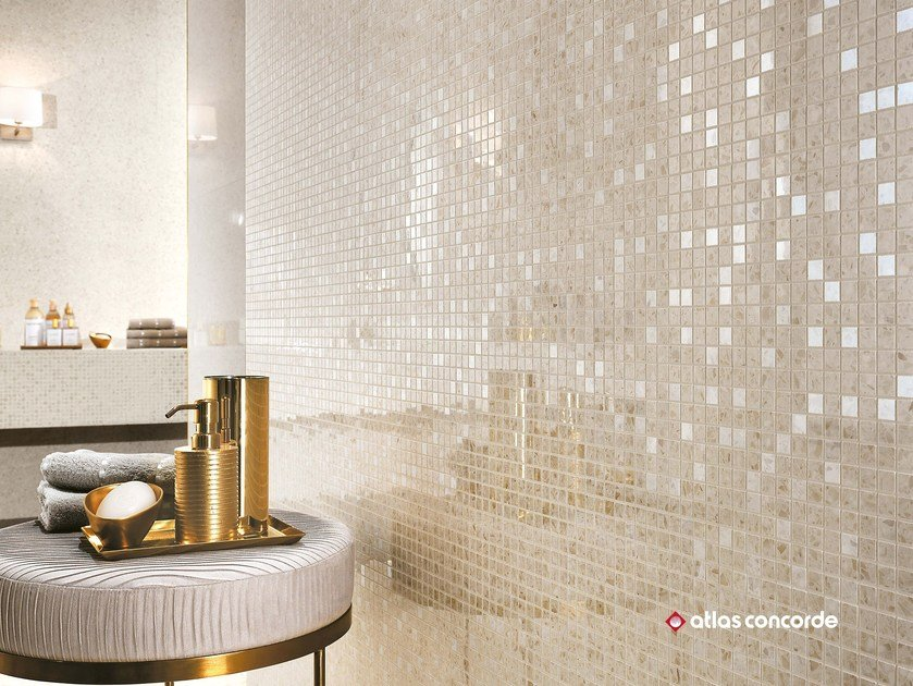MARVEL GEMS WALL | Mosaico in ceramica a pasta bianca
