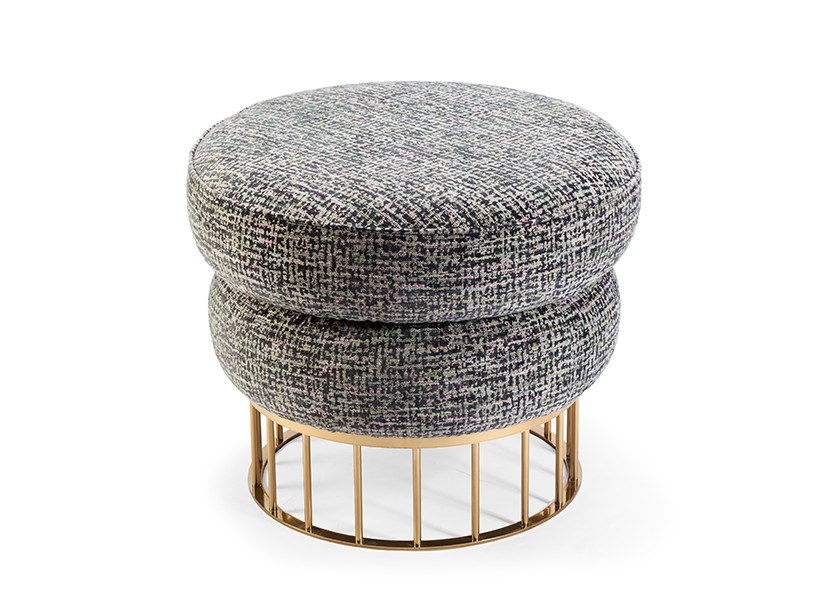 Pouf rotondo in tessuto MARY by Mambo Unlimited Ideas