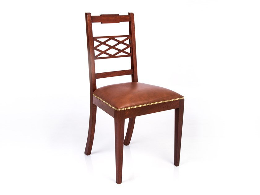 Mahogany chair with integrated cushion MARY by Woodmade
