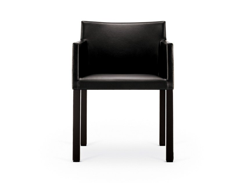 Upholstered chair with armrests MASAI | Chair with armrests by arper